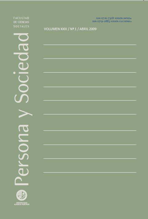Persona y Sociedad Vol.23 n.1 Abril 2009
