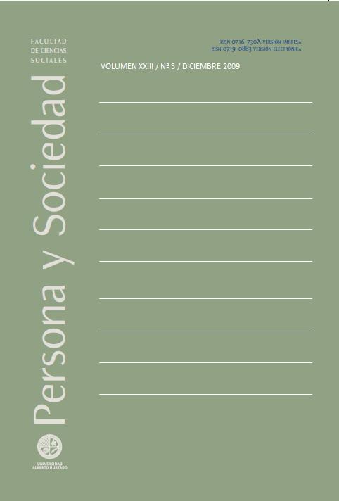 Persona y Sociedad Vol.23 n.3 Diciembre 2009