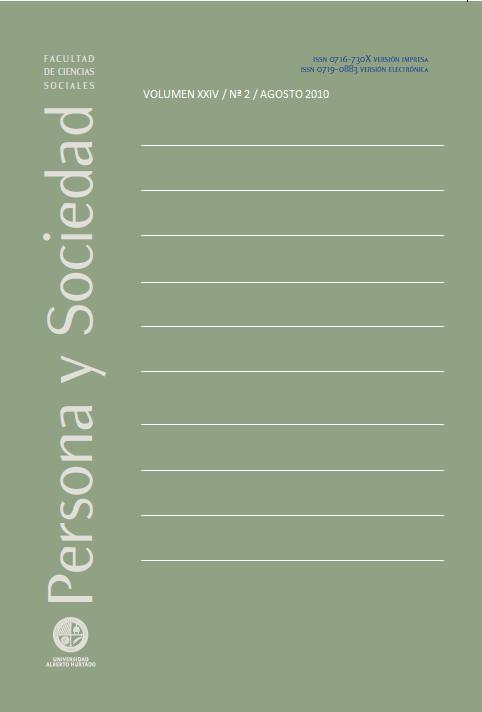 Persona y Sociedad Vol.24 n.2 Agosto 2010