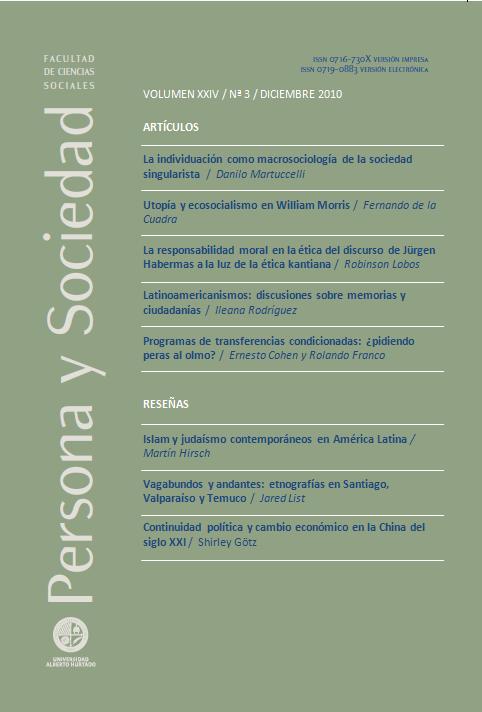 Persona y Sociedad Vol.24 n.3 Diciembre 2010