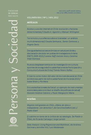 Persona y Sociedad Vol.26 n.1 Abril 2012