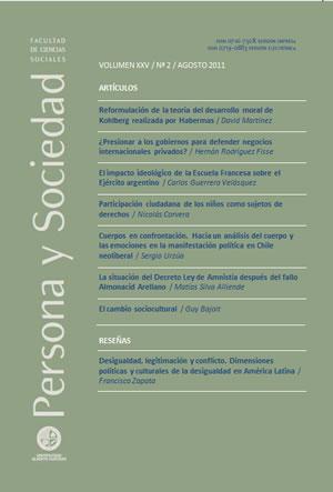 Persona y Sociedad Vol.25 n.2 Agosto 2011