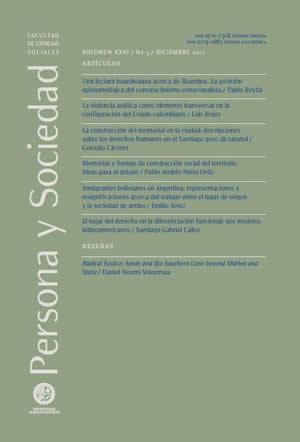 Persona y Sociedad Vol.26 n.3 Diciembre 2012
