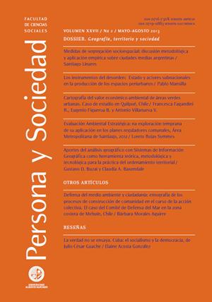 Persona y Sociedad Vol.27 n.2 Mayo Agosto 2013