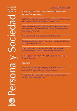 Persona y Sociedad Vol.27 n.3 Septiembre Diciembre 2013
